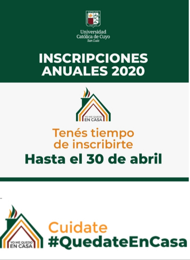 Inscripcion anual 2020